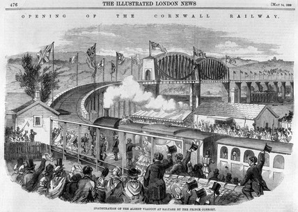 'Opening of the Cornwall Railway', 1859.