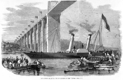 'Departure of Prince Albert in the 'Vivid' Steamer', 1859.