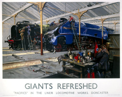 'Giants Refreshed', LNER poster, 1923-1948.