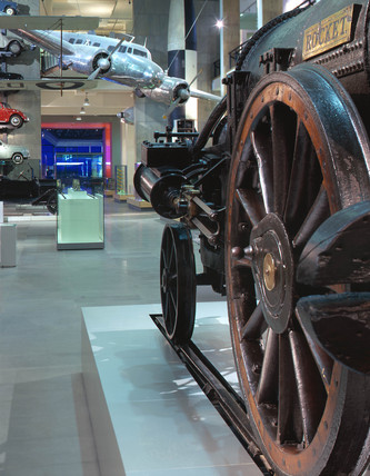 Stephenson's 'Rocket', Science Museum, London, 2000.
