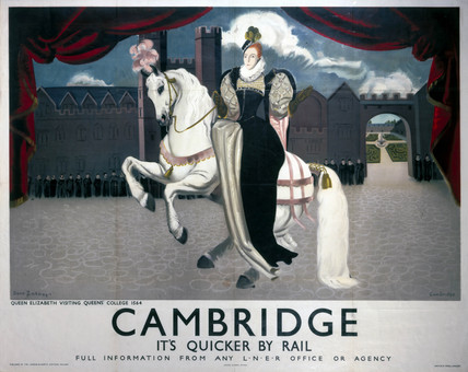 'Cambridge, it's Quicker by Rail', LNER poster, 1923-1947.