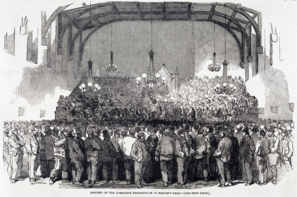 'Meeting of Operative Engineers in St Martin's Hall', London, January 1852.