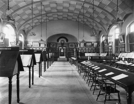 Reading Room at Swindon Works, 3 August 191
