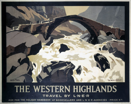 'The Western Highlands', LNER poster, 1923-1947.