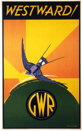 'Westward!', GWR poster, 1932.