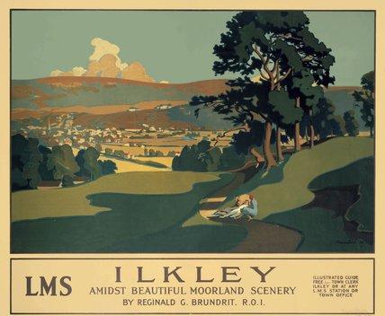 'Ilkley', LMS poster, 1926.