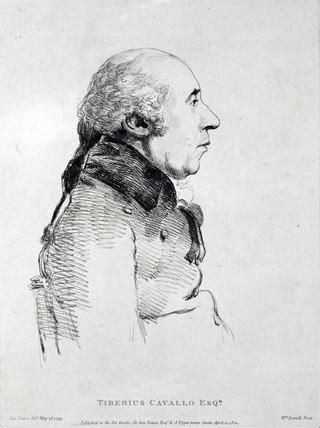 Tiberius Cavallo, Italian chemist and philosopher, 1799.