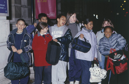 Children arriving at Science Night, 17 November 2000.
