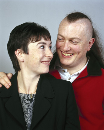 Glenn Ketchen, male contraceptive trialist, with wife Louise, 2000.