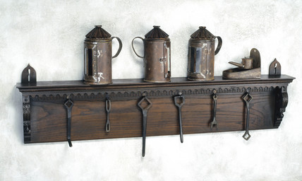 Print room shelf and tools, 16th century.