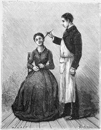 Stimulation of the facial nerve, 1881.