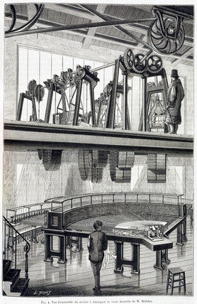'General view of lace manufacturing', c 1881.