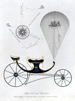 Patent kite and charvolant, 1827.
