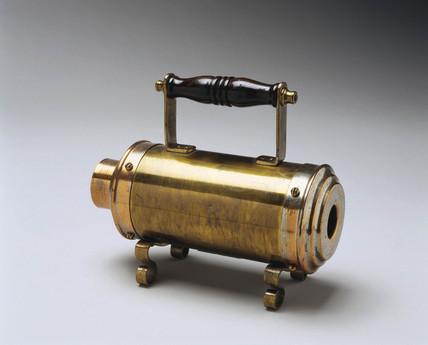 Crompton electric curling tong heater, 1891.