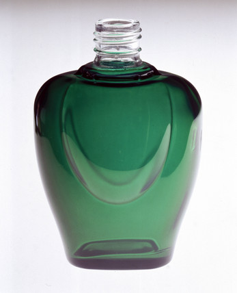 Green, heart-shaped bottle, powder-coated by Azko Nobel, 2000.