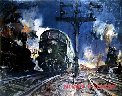 'Night Freight', artwork for BR (LMR) poste