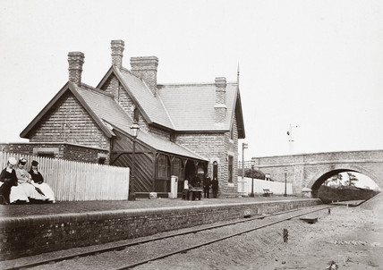 Kirklington station, Nottinghamshire, 1871.
