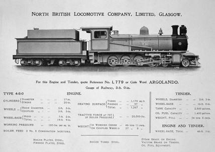 Steam locomotive 'Valente' with tender, 1923.