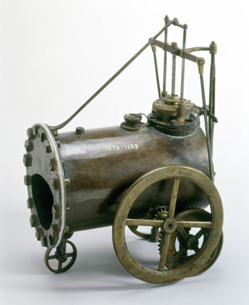 Trevithick's model locomotive, c 1797.