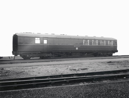 Buffet car, Doncaster Works, South Yorkshire, 26 February 1960.