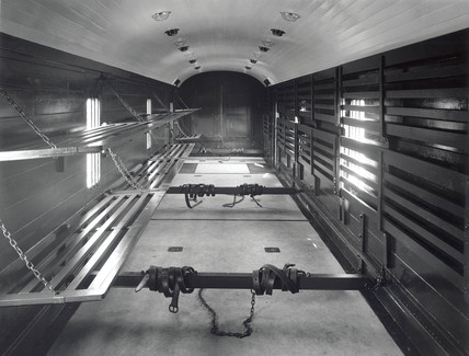 Interior of a LMS luggage and parcel van, 22 May 1933.