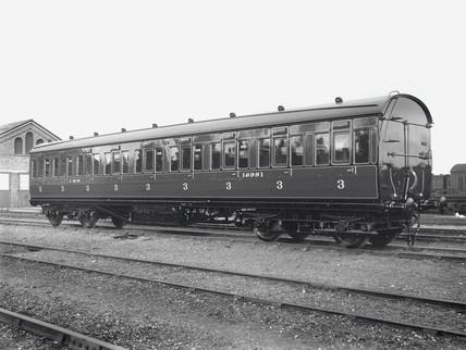 Third clas railway carriage, Wolverton Works, 14 October 1933.