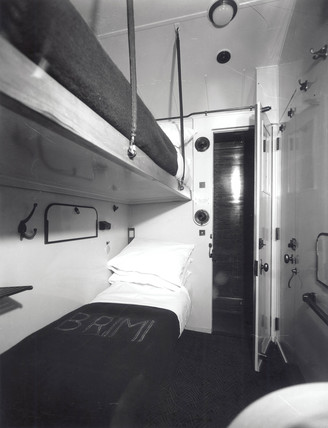 British Railways third clas sleeping compartment, 4 September 1951.