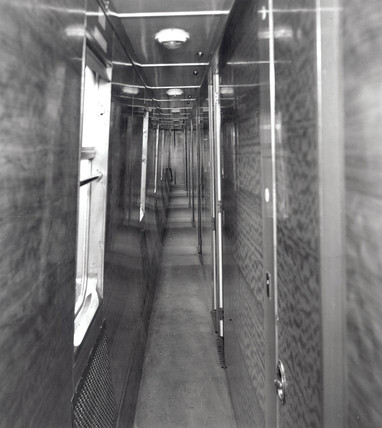 Corridor of  third clas sleeping compartment, 4 September 1951.