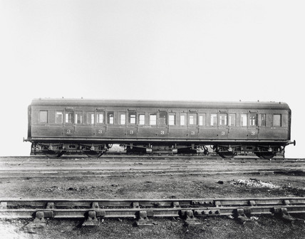 Third clas railway carriage, early 20th century.