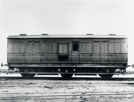 Guard's van, early 20th century.