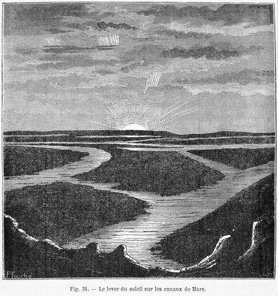 Martian canals, 1884.