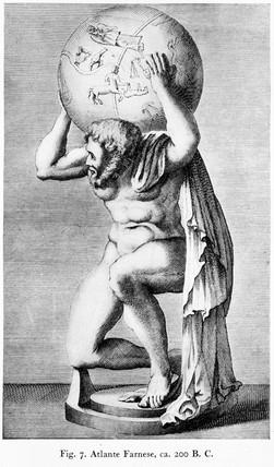 'Atlante Farnese, c 200 BC', 1921.