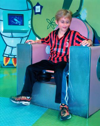 Adjustable chair exhibit, 'Things' Gallery, Science Museum, London, 2000.