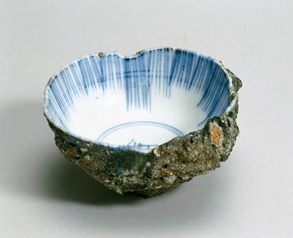Bowl from Hiroshima, Japan, 1945.