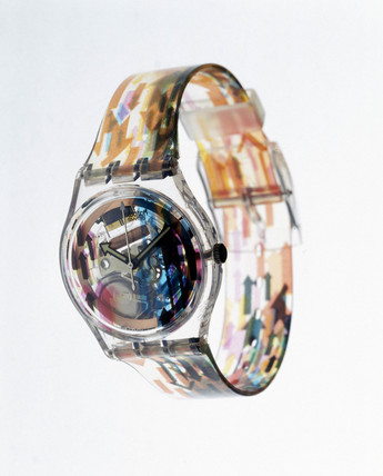 Swatch 'Acces' quartz wristwatch with analogue display, 1997.