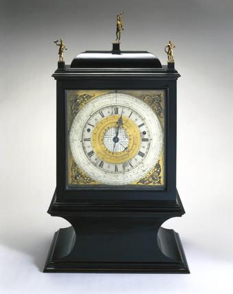 Pedestal astronomical clock, c 1695.