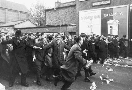 Spurs ticket riot, 28 October 1962. 'The hu