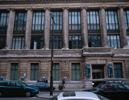The Main Entrance to the Science Museum, London, June 2000.