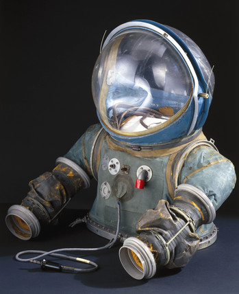 Upper half of partial-pressure suit, ca. 1954