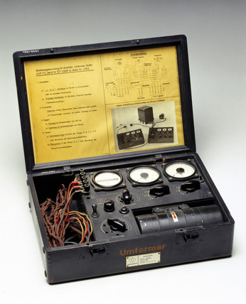 V2 rocket test kit, Germany, 1943.