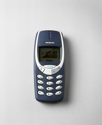 Nokia 3310 mobile phone, 2000.
