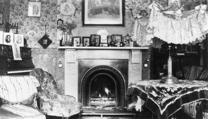 Middle clas drawing room, c 1900s.