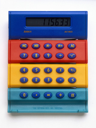 Roll-up calculator, c 2000.
