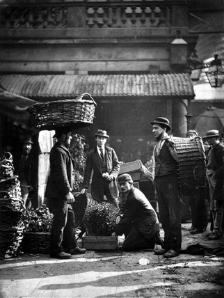 'Covent Garden Labourers', 1877.