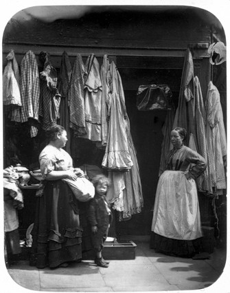 'An Old Clothes Shop, Seven Dials', Covent Garden, London, 1877.