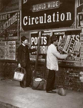 'Street Advertising', 1877.