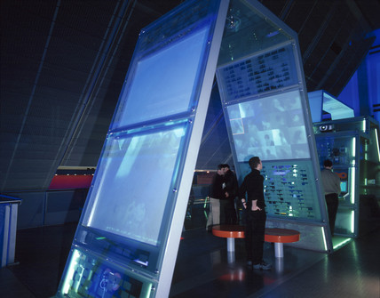 The 'Watch' installation, Digitopolis, Science Museum, London, 2001.