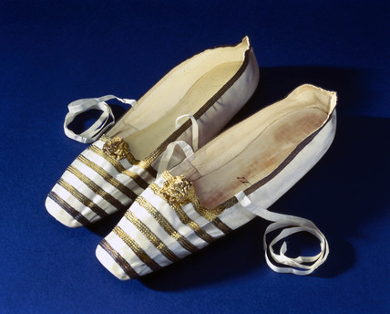 Queen Victoria's slippers, 1840-1848.