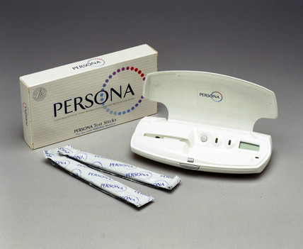 Persona monitor with testing sticks, 2000.