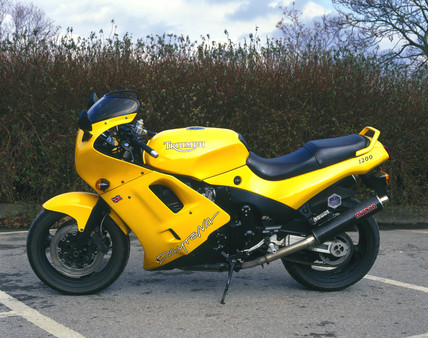 Triumph 1200cc 'Daytona' motorcycle, 1997.